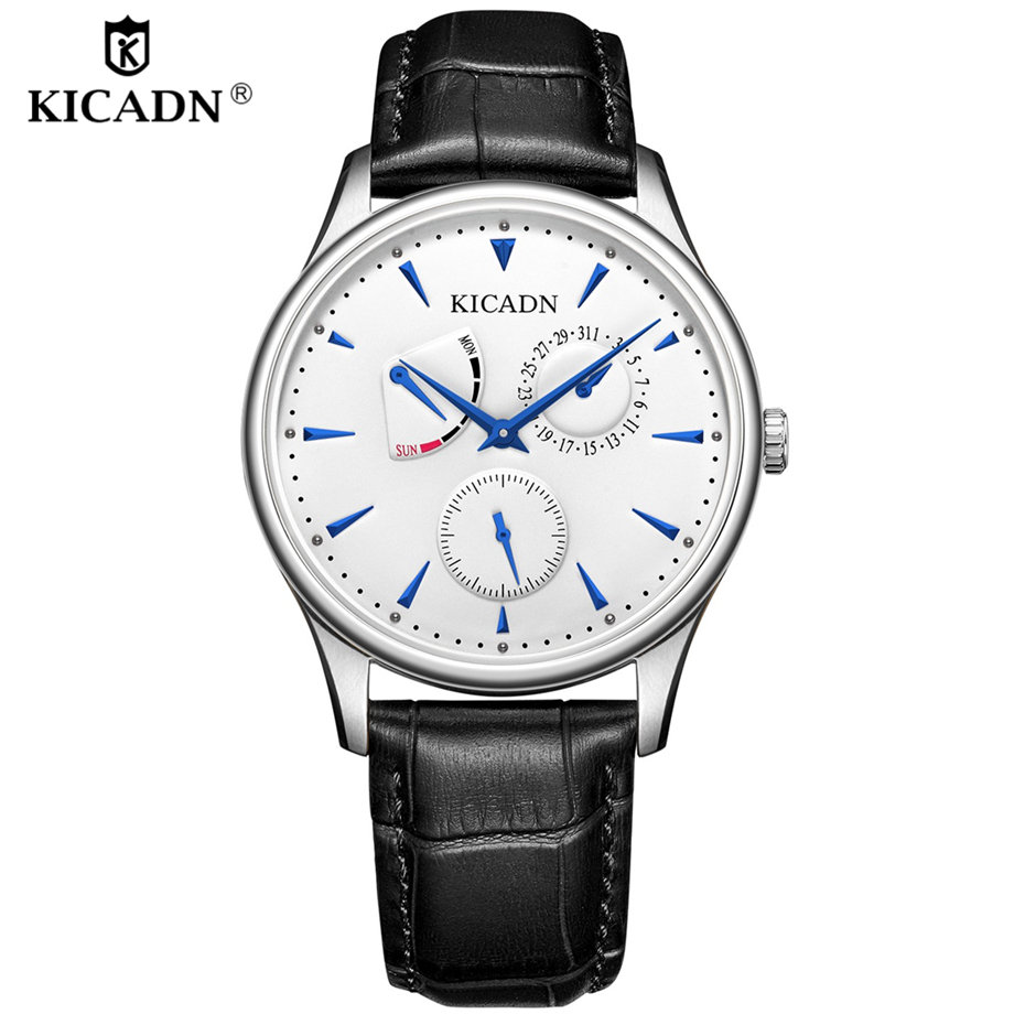 Mens Luxury Fashion Leather Strap Quartz Watch Men Business Watches Casual Date Male New Top Wristwatches Clock Erkek Kol Saati business men dress watch mens fashion quartz watches analog calendar steel male wristwatches kicadn casual clock erkek kol saati