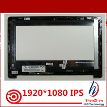 "13.3"" LCD screen with touch+frame For Acer CB5-312T N16Q10 FHD REPLACEMENT TOUCH SCREEN ASSEMBLY IPS matrix NV133FHM-N42"