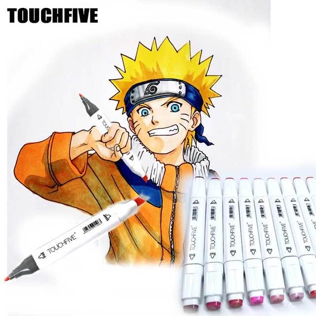 TOUCHFIVE 80 Color Anime art design Markers Set double head Sketch ...