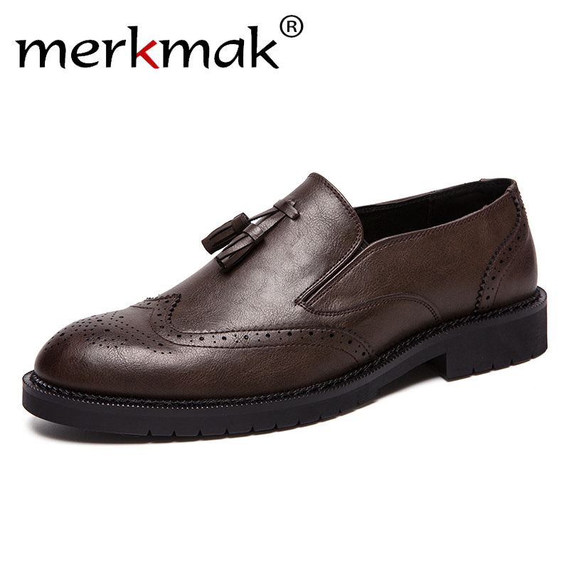 Men's Shoes Collection Here Full Grain Leather Oxfords Shoes Handmade Plus Size Flats Shoes Fashion Oxford Business Shoes Mesh Wedding Dress Shoes To Have Both The Quality Of Tenacity And Hardness Shoes