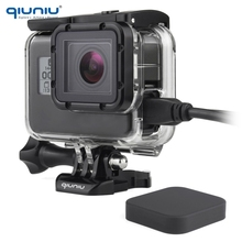 QIUNIU Skeleton Housing Side Opening Case Shell Wire Connectable FPV for GoPro Hero 2018 5 6 7 Black For Go Pro Accessories