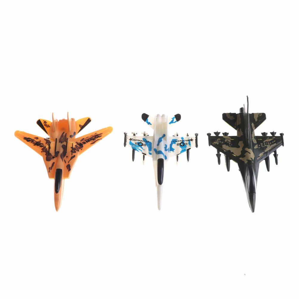 1 шт. минисамолет модели игрушки силы самолет-истребитель игрушка военный самолет игрушка с инерционным механизмом случайный развивающая игрушка