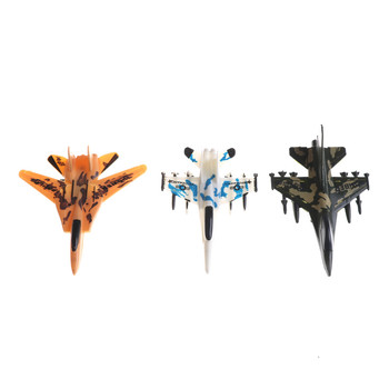 1Pcs Force Fighter Airplane Toy Children Education Toy Mini Aircraft Models Toys Military Plane Pull Back Toy Random image