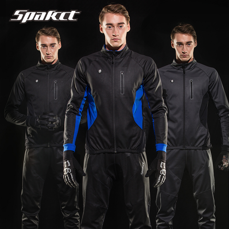 SPACKT 2017 New Arrive Men Cycling Jacket Set Bike Winter Fleece Cycling Clothing Cycling Jersey Breathable Ciclismo Maillot veobike men long sleeves hooded waterproof windbreak sunscreen outdoor sport raincoat bike jersey bicycle cycling jacket