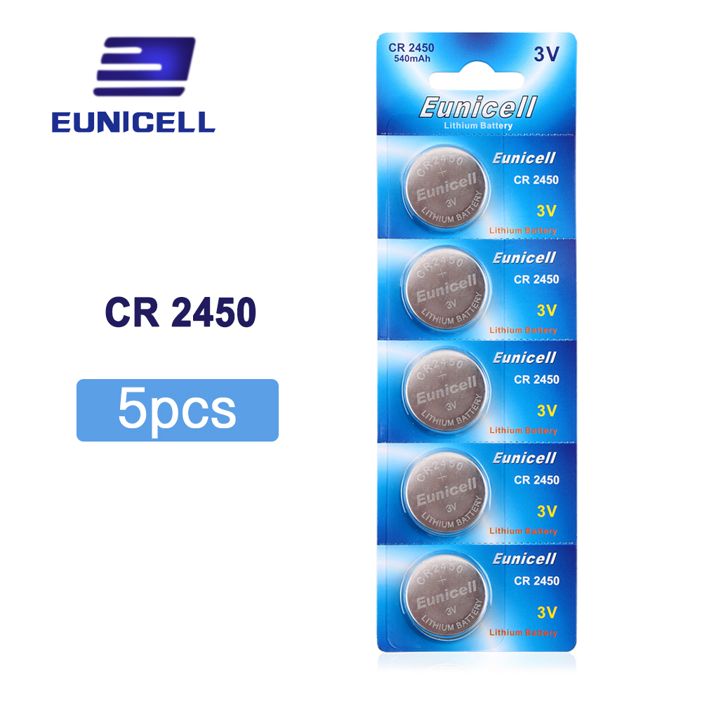 5pcs/pack CR2450 Button Batteries KCR2450 5029LC LM2450 Cell Coin Lithium Battery <font><b>3V</b></font> <font><b>CR</b></font> <font><b>2450</b></font> For Watch Electronic Toy Remote image