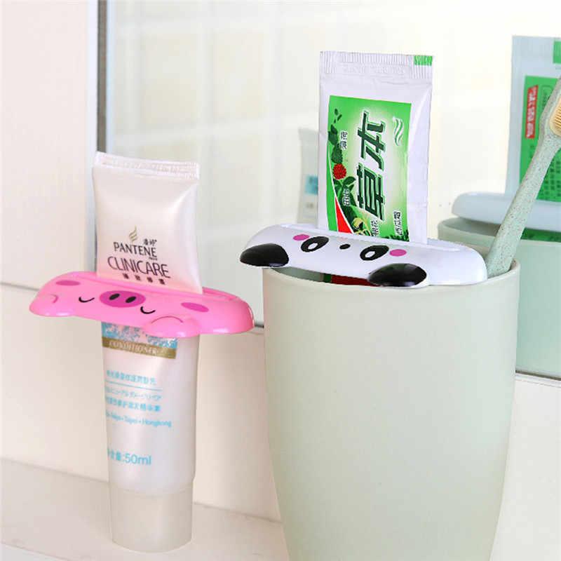 1 sztuk rury wyciskacz łatwy do Cartoon dozownik pasty do zębów toczenia uchwyt na szczoteczki do zębów uchwyt kuchnia łazienka akcesoria do dekoracji