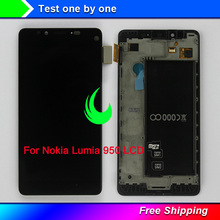 цена на 5.2 New Original AMOLED For Nokia Lumia 950 LCD Display Touch Screen Digitizer With Frame Assembly For NOKIA 950 LCD 2560x1440