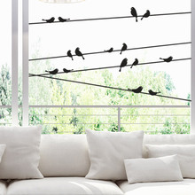 Moda vintage rama pájaro jaula pegatinas de pared removible adhesivos para salón mural para salón ventanas niños dormitorio Casa Decor jan11