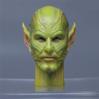 Presale The Avengers 4 Captain Marvel Skrull Star People Talo Head Statue Figure Collect Model Toy (Delivery Period:60 Day) M854