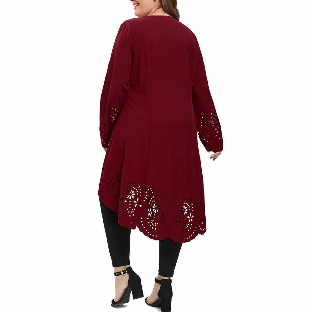 Moda yaz elbisesi Kadın O-Boyun Uzun Kollu Artı Boyutu 5XL Lazer Kesim Yüksek Düşük Hollow Out Seksi Elbise Kız Pr om elbiseler