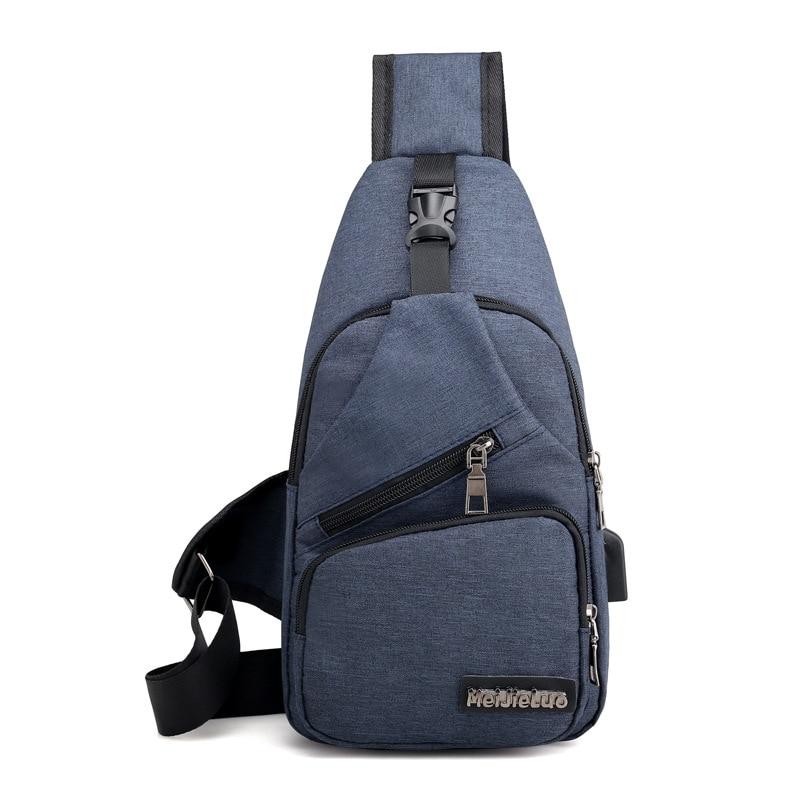 Men's Anti Theft USB Charging Cross body Shoulder Bags 3