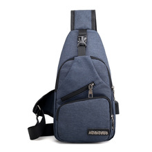Male Shoulder Bags USB Charging Crossbody Bags Men Anti Theft Chest Bag School Summer Short Trip Messengers Bag New Arrival