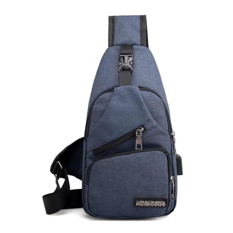 Мужские сумки на плечо зарядка через usb сумки через плечо мужские противоугонные Груди Сумка школьная Летняя короткая поездка Курьерская сумка 2019 новое поступление