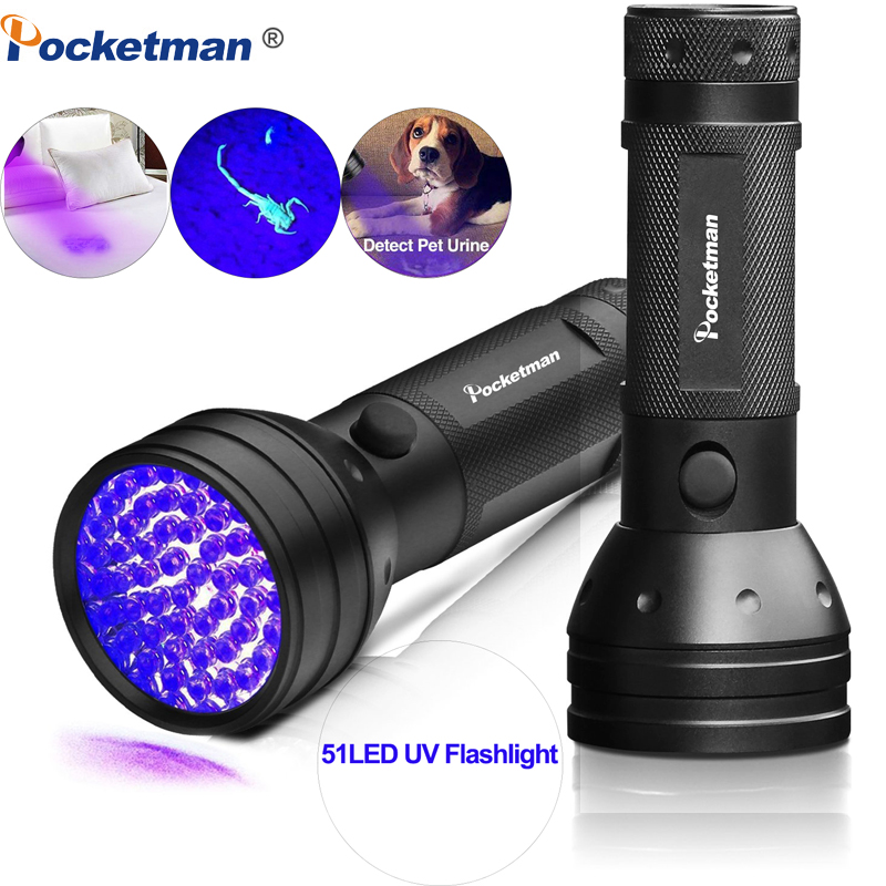Ultra Violet 51//100LED Flashlight Blacklight Pet UV Urine/&Stain Detector Torch