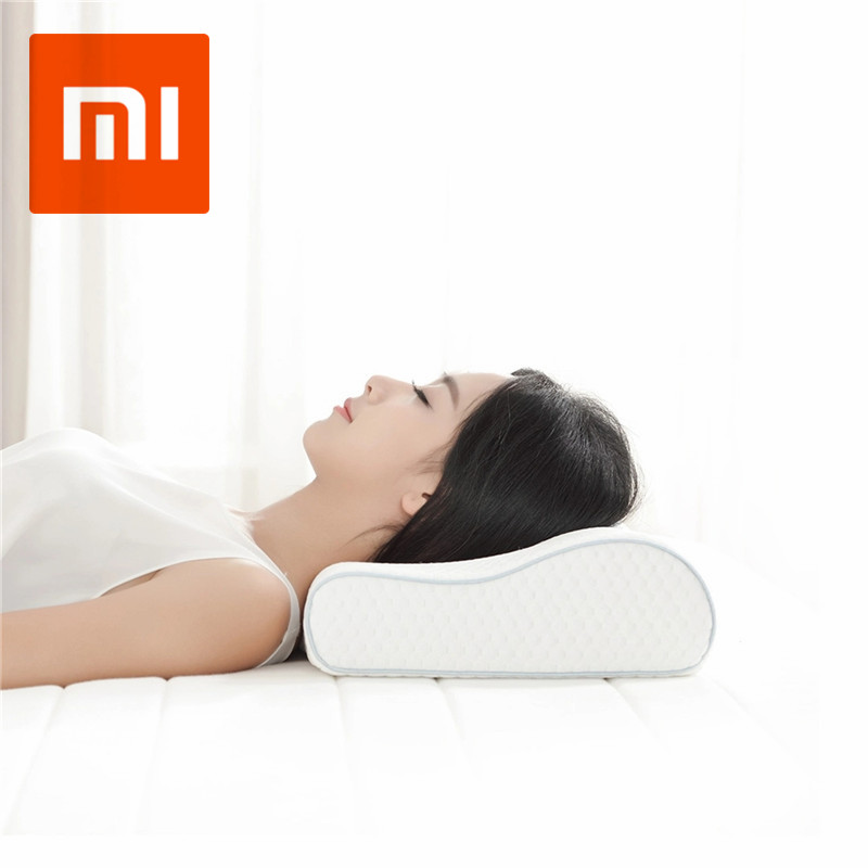 Original Xiaomi 8H Cool Feeling Neck Massager Slow Rebound Memory Cotton Pillow H1 Super Soft Antibacterial Neck Support Cushion