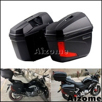 Universal Motorcycle LED Tail Box Saddlebag 23 Liter Side Pannier For Honda Yamaha Yamaha Suzuki BMW Custom Luggage Side Cases