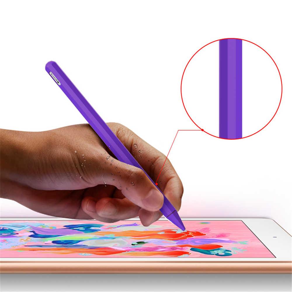 新しいソフトキャンディーカラー防塵ノンスリップシリコーンケース先カバースリーブラップ先端 Apple 鉛筆 2 iPad プロ SiliconeCase