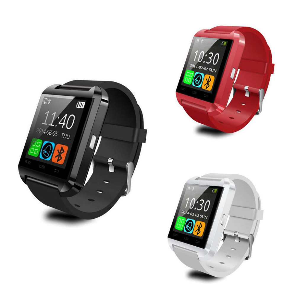 imágenes para Ventas calientes U8 Smartwatch Bluetooth Elegante Reloj de Pulsera de Moda U Reloj Para iPhone Android Samsung HTC LG Sony 3 Colores