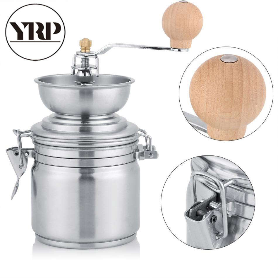 YRP Stainless Steel Manual Coffee Grinder Spice Grinding Mill Hand Tool Home Grinder Milling Machine Coffee Accessories spices grinder machine