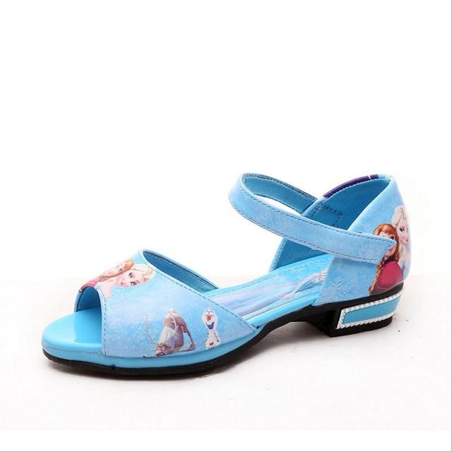 2017 Summer Children Sandals Girls Sandals Summer Fashion Kids Sandlas Lovely Cartoon Design Princess Shoes Dancing Shoes YY1027