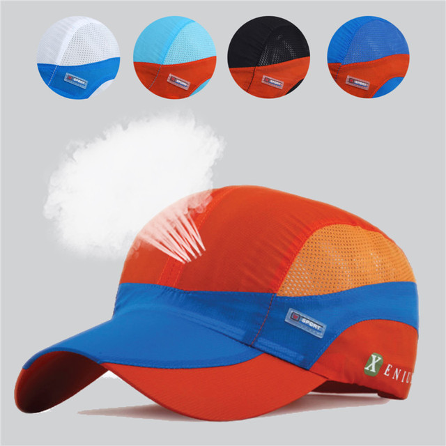 c00d05daa1feb Summer quick-dry baseball cap breathable mesh sun sport hat lightweight  outdoor hunting running fishing UV man women gorras bone