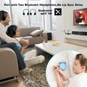 Image 4 - VIKEFON 80m ארוך צלצל Bluetooth 5.0 אודיו מקלט משדר עוקף Aptx HD השהיה נמוכה CSR8675 AUX אופטי אלחוטי מתאם