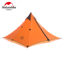 Naturehike Outdoors Backpacking Camping Hunting Hiking Tent Ultralight 20D Waterproof 1 Person Pyramid Tent 4 Season Sun Shelter