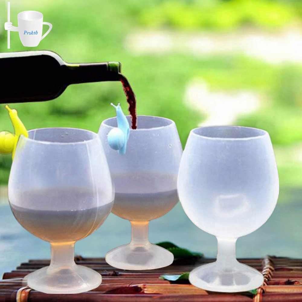 8.5oz 250ml Unbreakable Outdoor Silicone Wine Glass Beer Champagne Whiskey Goblet Cocktail Foldable Water Cup Party Supplies foldable wine glasses
