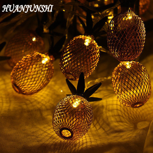 HUANJUNSHI 2M 20 LED Vintage Style Pineapple Lighting String Warm White Web L& Outdoor Lighting Christmas & HUANJUNSHI 2M 20 LED Vintage Style Pineapple Lighting String Warm ...