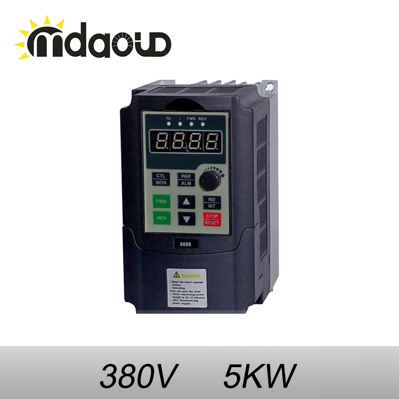 5.5kw 380v AC Frequency Inverter & Converter Output 3 Phase 650HZ ac motor water pump controller /ac drives /frequency converter three phase general frequency converter 2 2kw 380v three phase motor warranty 18 delta