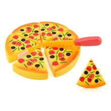 Childrens Kids Pizza Slices Toppings Pretend Dinner Kitchen Play Food Toy Gift H40 OCT09(China)
