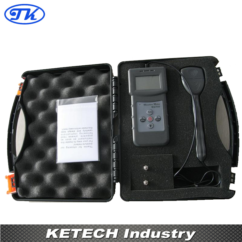 Portable Digital Cotton Moisture Meter Tester MS7100C mc 7806 digital moisture analyzer price with pin type cotton paper building tobacco moisture meter