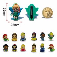 6-10 Stuks Prinses Pvc Cartoon Figuur Icoon Broche Pins Badge Leuke Pin Knop Badge Pinbacks Rugzak Kleding Hoed decor Xmas Gift(China)