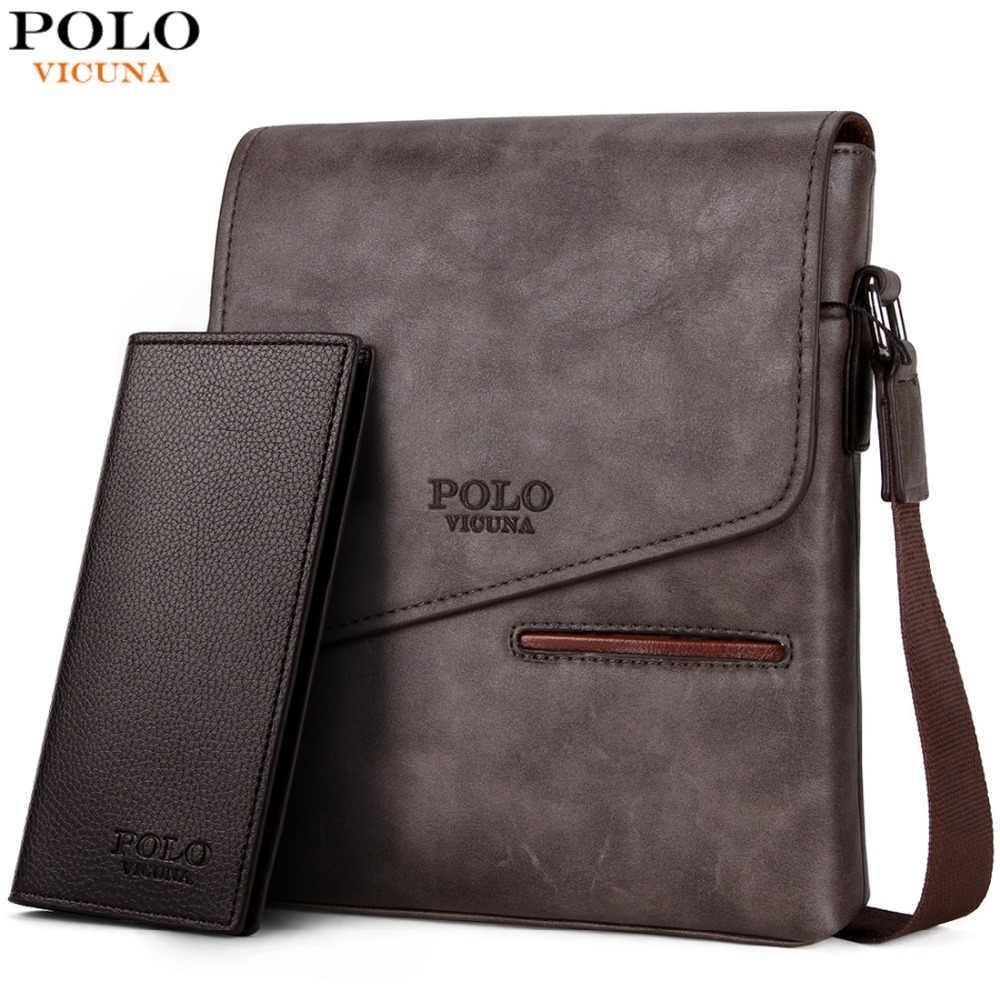 675168d8c0c1 VICUNA POLO Vintage Frosted Leather Messenger Bag For Man Brand Business  Man Bag Men s Shoulder Bags