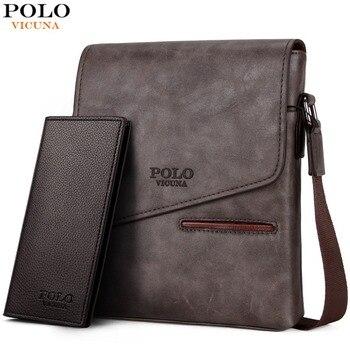 0a149b3b85dd Викуньи поло Винтаж матовые кожаные сумка для человека бренд деловая сумка  для мужчин's сумки на плечо передний карман мужчин сумки
