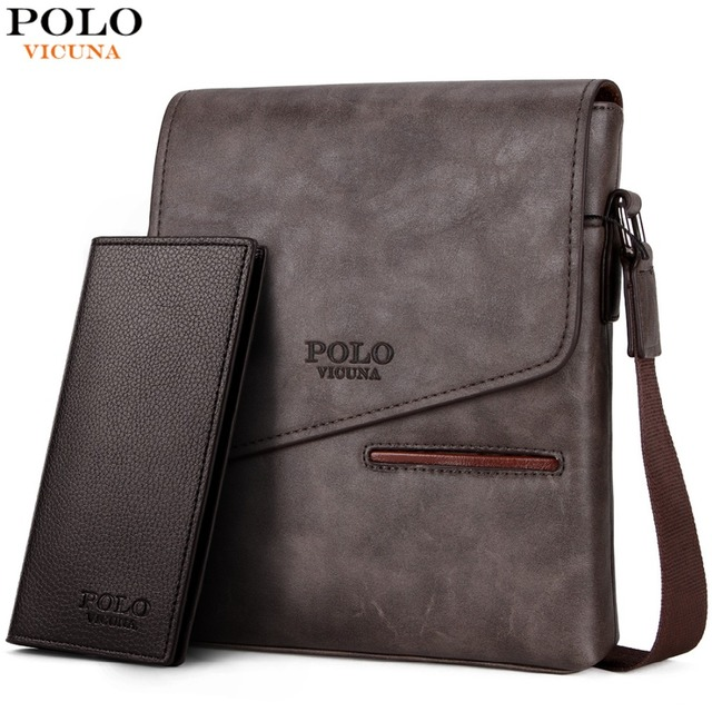 VICUNA POLO Vintage Frosted Leather Messenger Bag For Man Brand Business  Man Bag Men s Shoulder Bags Front Pocket Men Handbag 210b6b561b815