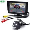 Free Shipping, LED Night Vision Car Rearview Reversing Camera Parking Backup Monitor System + 4.3 inch Color LCD Car Monitor