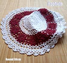 Vintage cotton placemat cup coaster mug kitchen Christmas dining table place mat cloth lace Crochet tea coffee doily drink pad vintage cotton lace table place mat crochet coffee placemat pad glass drink coaster cup mug tea dining christmas doily kitchen