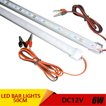 2pcs*50cm led rigid bar light aluminium profile smd 5730 DC 12V table lamp caravan under cabinet lighting