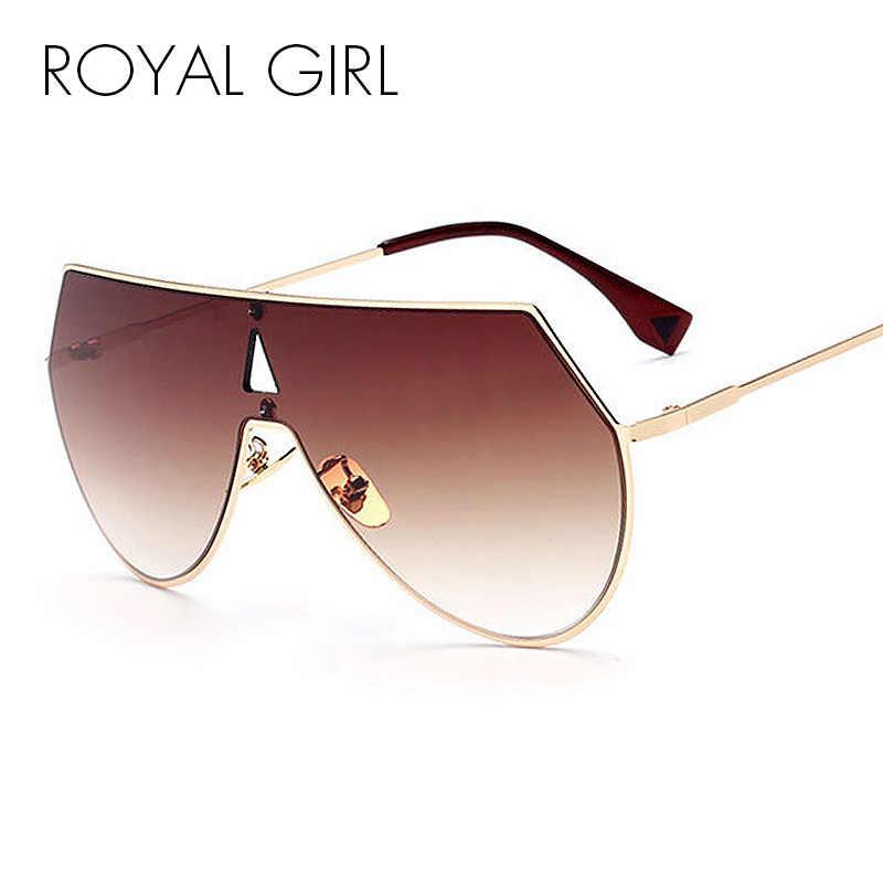 25c14643dc1 ROYAL GIRL Unique Shield Sunglasses Women Rimless Over Size Sun Glasses  Vintage Shades SS923