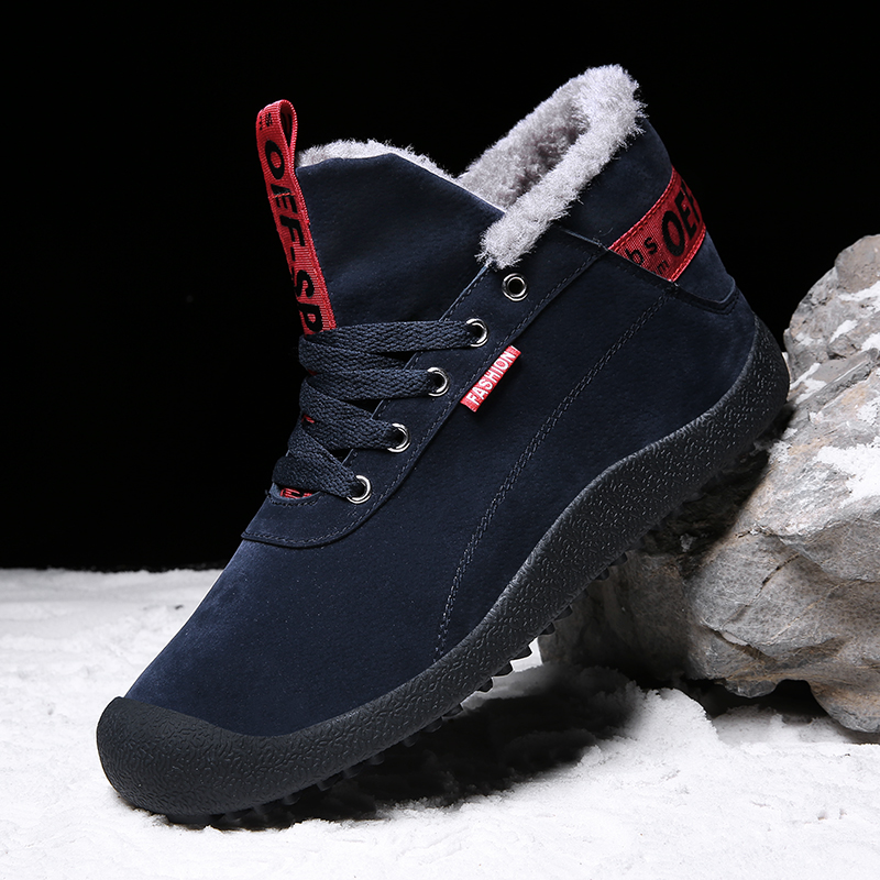 Mens Qualité Casual Sneakers Sapatos Confortable on Mode 3ry 39 Haute Taille Grande Chaussures 3ry blue Bottes gray Slip Mâle De 3ry blue a1a black 47 Zapatos a1a black Neige Hombre nIIvdrxq