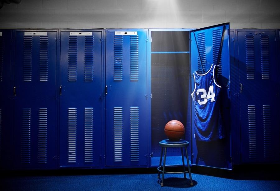locker basketball backgrounds background portrait studio chair backdrops door photographic laeacco customized zoom props spotlight vinyl consumer electronics