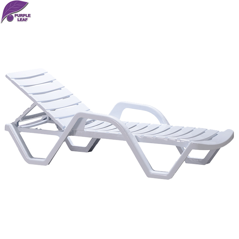Purple Leaf Plastic Sun Lounger Beach Folding Chair
