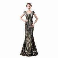 Sparkle Prom Dress Vinca Sunny Women Mermaid V Neck Cap Sleeve Ombre 2018 Gorgeous Long Sequin Party Prom Gown Corset Vestidos