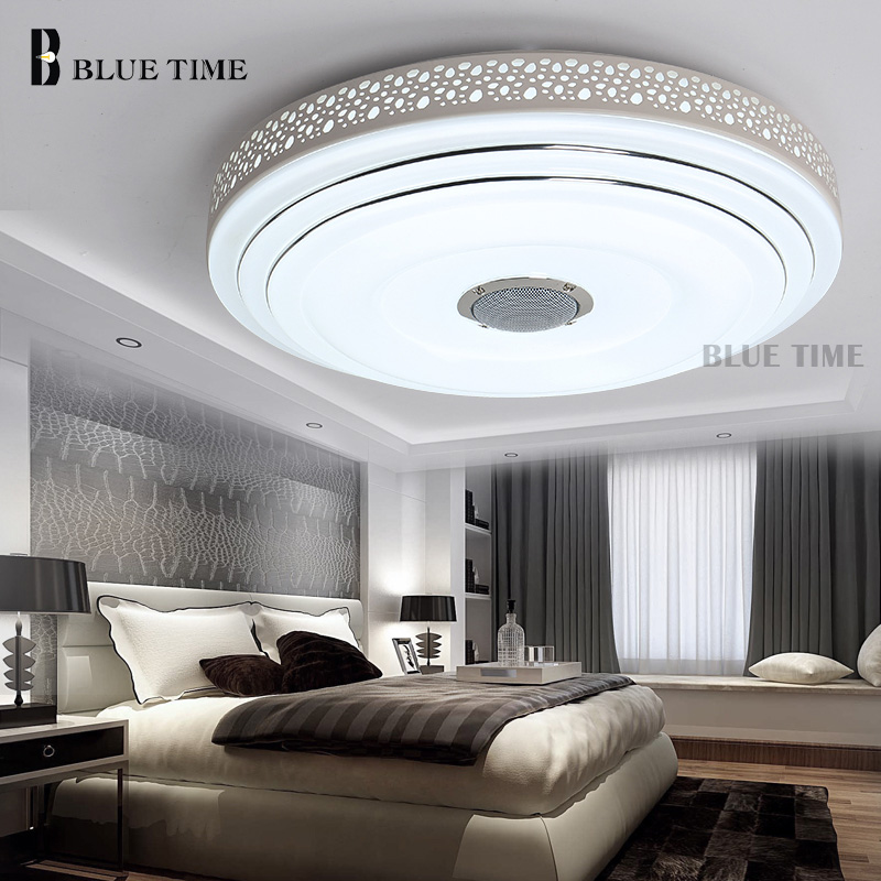 Bule time music lamp modern led chandelier lustres with bluetooth bule time music lamp modern led chandelier lustres with bluetooth control color changing ceiling chandeliers lighting fixture in chandeliers from lights aloadofball Gallery