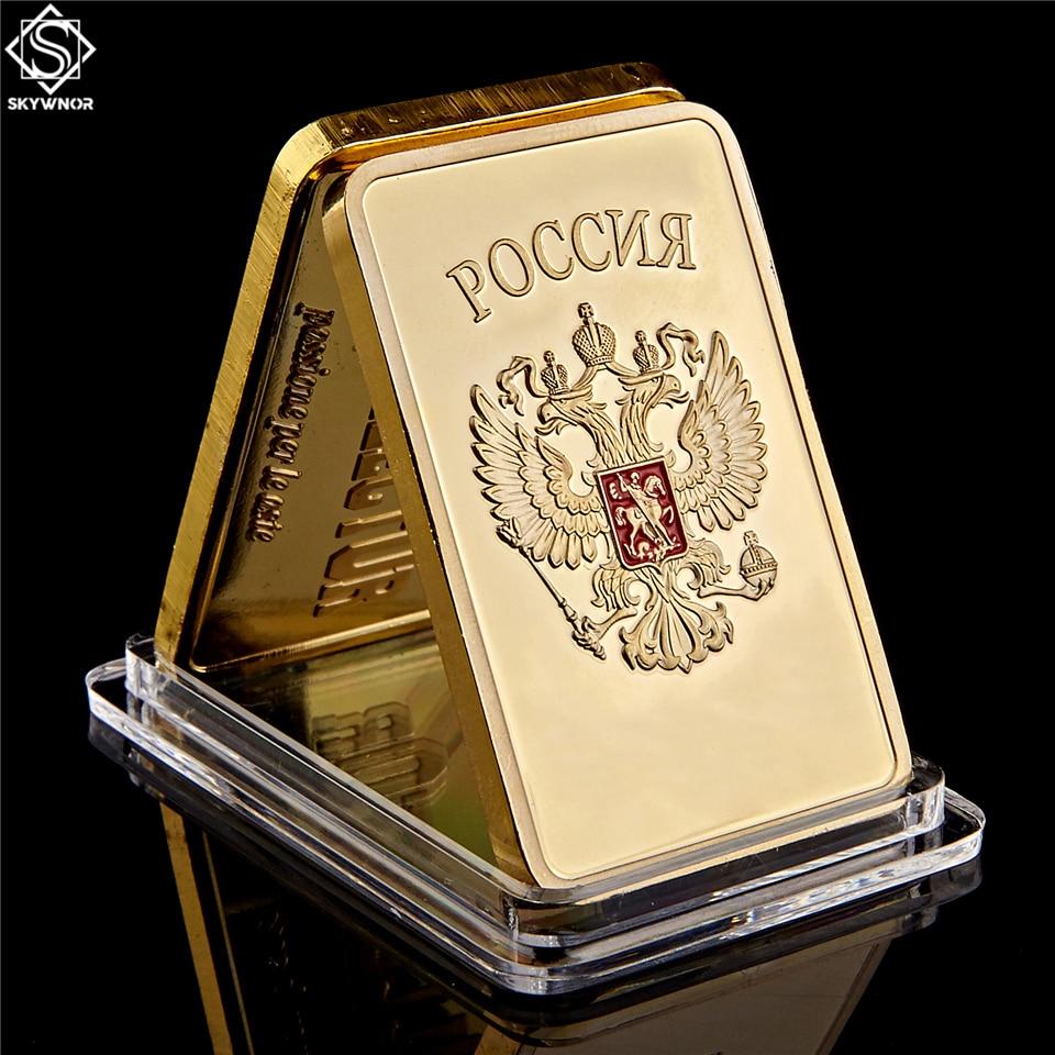 Золотой слиток бар СССР Национальная эмблема Золотой бар советский памятный сувенир монеты металлические украшения подарки