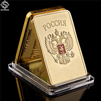 Gold Bullion Bar USSR National Emblem Gold Bar Soviet Commemorative Souvenir Coin Metal Decoration Gifts gold silver color panda commemorative coin metal crafts gifts home decoration accessories challenge coin art collection