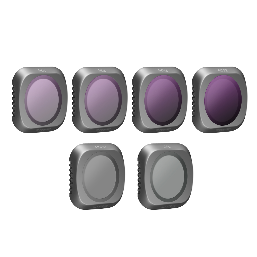Многослойным просветлением 6 шт. Комплект фильтров для DJI Мавик 2 Pro Drone включает в себя: MCUV, CPL, ND4, ND8, ND16, ND32