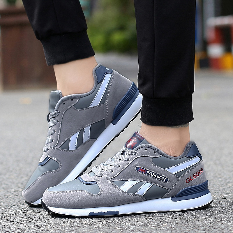 UNN New Winter Sneakers Running For Mens Runners Comfortable Black Trail Sport Shoes Mulheres With Fur Mens Walking Shoes Gray
