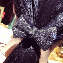 New Bling Bling Bowknot Rubber Bands Elastic Hair Bands Hair Rope Lace Mesh HairbandFor Women Girls Hair Accessories Headwear